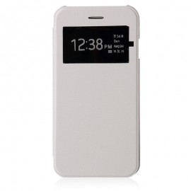 Flip cover cache batterie blanc Samsung Galaxy S5 Mini