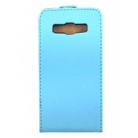 Etui cuir à clapet Samsung Galaxy A3 Bleu ciel