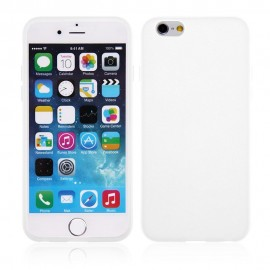 Coque silicone iPhone 6 Plus Blanc