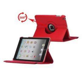 Etui cuir 360° iPad Mini 4 Rouge