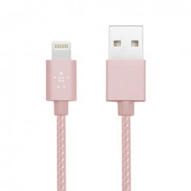 Câble USB Nylon Lightning + Micro USB - ROSE