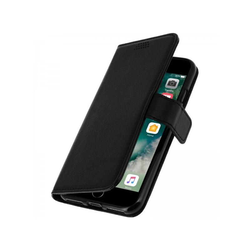 etui cuir portefeuille iphone 7 iphone 8 noir tout pour phone