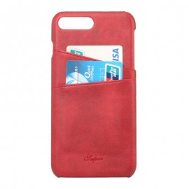 Coque cuir iPhone 7 rouge