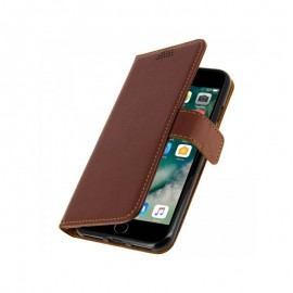 Etui cuir portefeuille iPhone 7 Plus marron