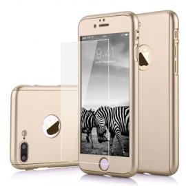 Coque rigide complète iPhone 7 doré
