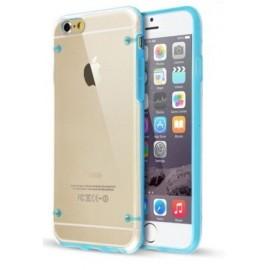 Coque bumper cristal iPhone 7 Plus bleu ciel