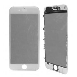 Vitre tactile avec châssis et film OCA iPhone 6 Blanc
