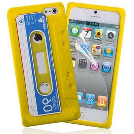 Housse cassette jaune iPhone 5
