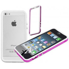 Bumper blanc et rose iPhone 5