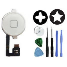 Bouton home complet blanc iPhone 4S