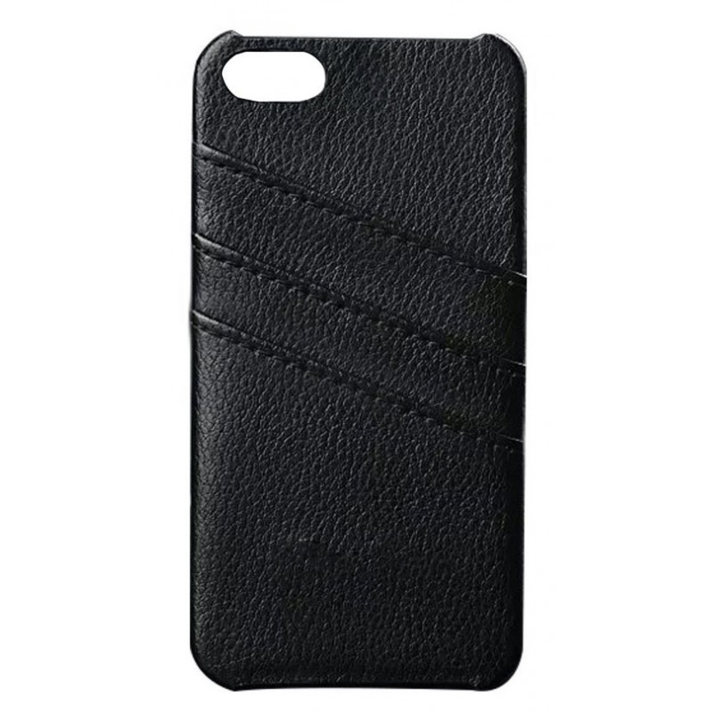 coque simili cuir noire porte cartes iphone 8 tout pour phone. Black Bedroom Furniture Sets. Home Design Ideas