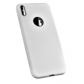 coque silicone grainé Blanc iPhone X