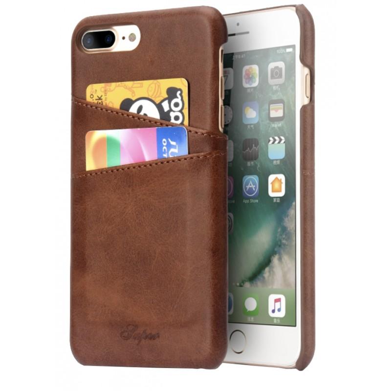 coque cuir marron iphone 7 plus iphone 8 plus tout pour phone. Black Bedroom Furniture Sets. Home Design Ideas