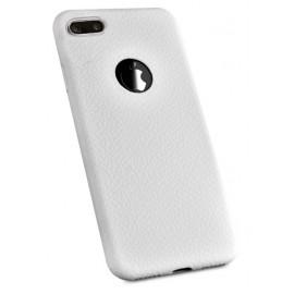 Coque silicone grainé Blanc iPhone 7 Plus / iPhone 8 Plus
