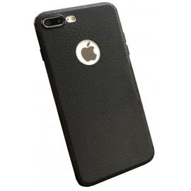 Coque silicone grainé noir iPhone 7 Plus / iPhone 8 Plus