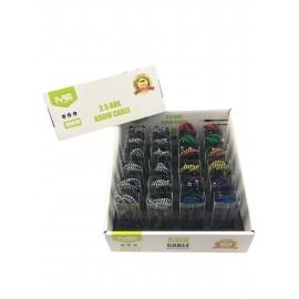Lot de 24 câbles jack to jack de couleur