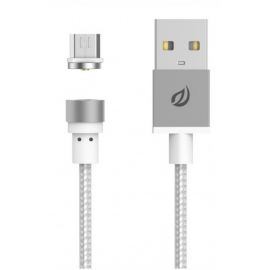 Câble Micro USB magnétique argent