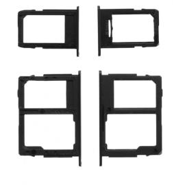 Double tiroir SIM + lecteur carte SD Samsung Galaxy J5 2017 / J7 2017 Noir