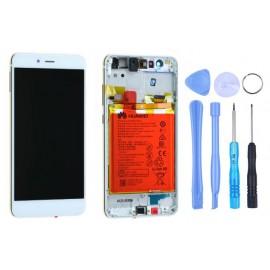 Ecran Huawei P10 Lite châssis + batterie Blanc