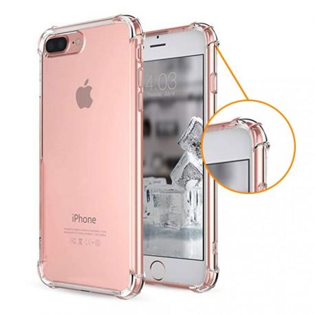 Coque silicone transparente coins renforcés iPhone 7 Plus / iPhone 8 Plus