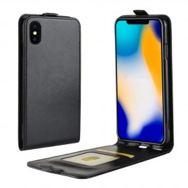 Etui clapet simili cuir noir iPhone Xs Max