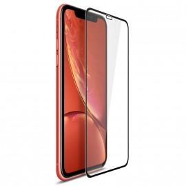 Film en verre trempé avec contour noir iPhone XR