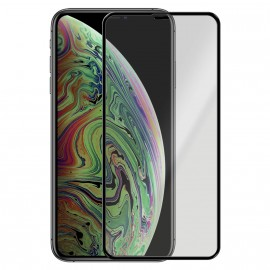 Film en verre trempé avec contour noir iPhone Xs Max
