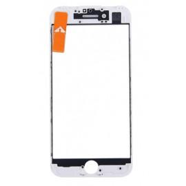 Vitre tactile avec châssis et film OCA iPhone 7 Plus blanc