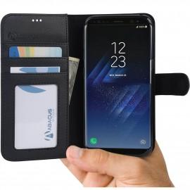 Etui portefeuille Samsung Galaxy S8 + Noir