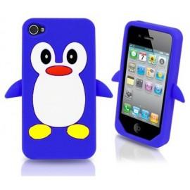 Housse silicone Pingouin Bleu Foncé iPhone 4/4S