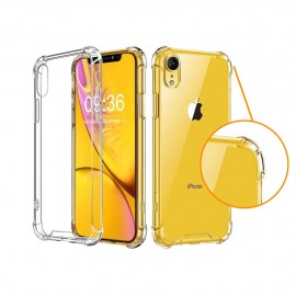 Coque silicone transparente coins renforcés iPhone Xr