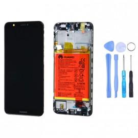 Ecran complet (châssis + batterie) Huawei P Smart Noir d'origine Huawei + outils