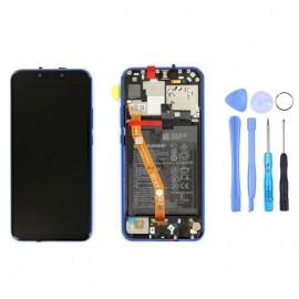 Ecran complet (châssis + batterie) Huawei P Smart+ Violet d'origine