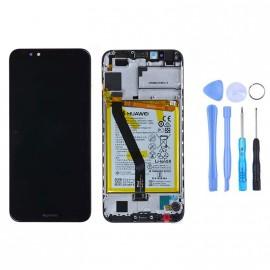 Ecran complet (châssis + batterie) Huawei Y6 (2018) Noir d'origine