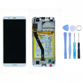 Ecran complet (châssis + batterie) Huawei Y6 (2018) Blanc d'origine