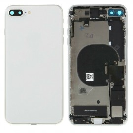 Coque arrière complète iPhone 8 Plus Argent