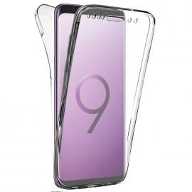 Coque intégrale silicone transparente Samsung S9