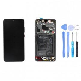 Ecran complet (châssis + batterie) Huawei Mate 20 Noir d'origine