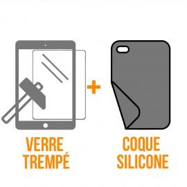 """Coque silicone + verre trempé iPad Pro 10,5"""""""
