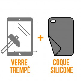Coque silicone + verre trempé iPad Air 2