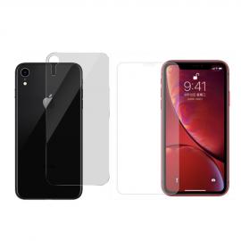 Pack verre trempé avant + arrière iPhone XR