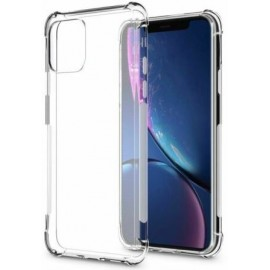 Coque silicone transparente coins renforcés iPhone 11