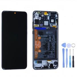 Ecran complet (châssis + batterie) d'origine Huawei P30 Lite Noir + outils