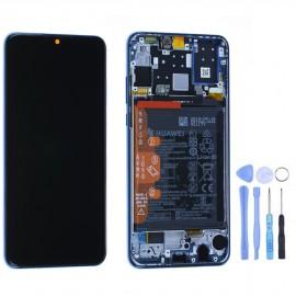 Ecran complet (châssis + batterie) d'origine Huawei P30 Lite Bleu + outils