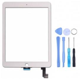 Vitre tactile iPad Air 2 Blanc + outils