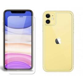 Pack verre trempé avant + arrière iPhone 11