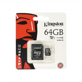 Carte mémoire Micro SD 64Go + adaptateur Kingston