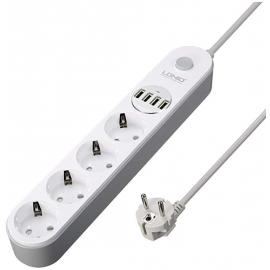 Multiprise secteur + 4 ports USB
