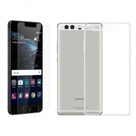 Coque rigide + verre trempé Huawei P10 Plus