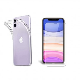 Coque silicone + verre trempé iPhone 11